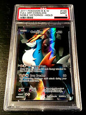 PSA 9 MINT - Cobalion Full Art BW Noble Victories 100/101 SR Pokemon Card - GSC
