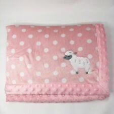 New listing Child of Mine Carters Pink Lamb Polka Dot Baby Blanket Sherpa Minky White Lovey