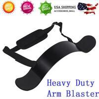 Black Heavy Duty Arm Blaster Isolator Body Building Bomber Bicep Curl Triceps US