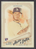 Topps - Allen & Ginter 2018 - Base # 293 Alex Verdugo - Los Angeles Dodgers RC
