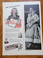 1943 Barbasol Shaving Ad  How to Make a Good Deal  Buy Blonds Bonds