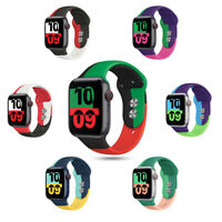 40/44mm Colorful Silicone Sport Band Strap for Apple Watch 6 5 4 3 2 1 iWatch SE