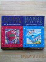 Harry Potter & Philosophers Stone & chamber of secrets 1st Edition Celebratory