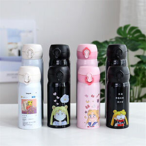 Sailor Moon Cartoon Water Bottle Stainless Steel Vacuum Thermos Cup 350/500ML