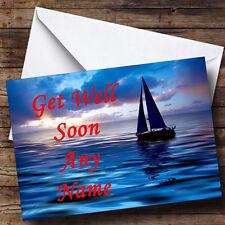 Sailing Boat Personalised Get Well Soon Greetings Card