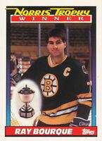 Ray Bourque 1991-92 Topps #517 Boston Bruins Hockey Card