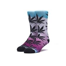 NWT HUF Fader Plantlife Pink Crew Socks Men/'s One Size