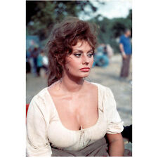Sophia Loren Seated Looking On with Messy Hair 8 x 10 Inch Photo