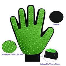 Animaux Toilettage Gant, 1 en 2-Épilateur et Mitt Gentle Brush et Massage Outil-Vert
