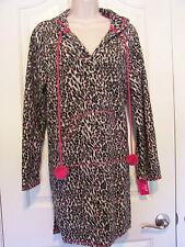 Jenni Soft Animal Print Hooded Tunic Size XL 100% Polyester, New MSRP $36