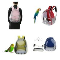 Clear View Parrot Bird Carrier Backpack with Stainless Perch Stand & Feeder Cup