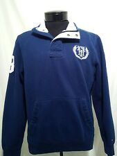 Tommy Hilfiger Men's 1/2 Zip Blue Polo Rugby Pullover Sweatshirt Jacket Sm