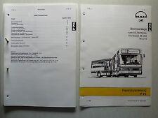 MAN Omnibusse NL 202, NG 272 - Bremsanlage Reparaturanleitung P75, 11.1990