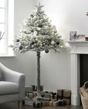 Home 6ft Snowy Half Christmas Tree - Green
