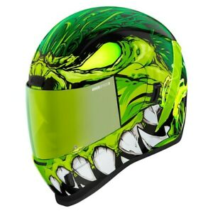 Icon Green Airform Manik'R Full Face Motorcycle Helmet - New Spring 2021