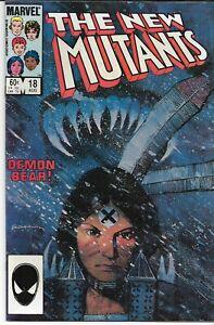 NEW MUTANTS (1983 series) #18  Very Fine/Near Mint (8.50) 1st Warlock Demon Bear