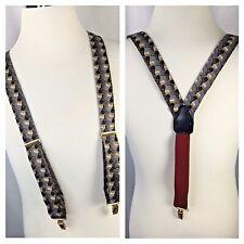 Pelican~USA~Suspenders~Braces~Men's~Adjustable~Clip on~Elastic~Abstract Print~