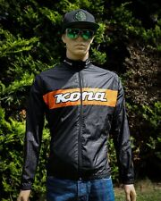 Kona Wind and Water Cycling Jacket with 3 Rear Pockets Black/Orange Large