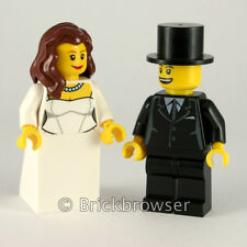 LEGO Bride & Groom Minifigs with reversible heads for happy/nervous expression!