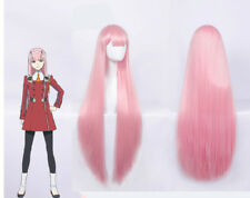 DARLING in the FRANXX Strelizia 02 ZERO TWO Long Straight Cosplay Wig+Wig Cap