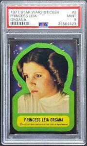 1977 Star Wars Topps Sticker #2 Princess Leia Organa PSA 9 MT