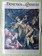 La Domenica del Corriere 25 Gennaio 1959 Monoscopio Carabiniere Juventus Sanremo