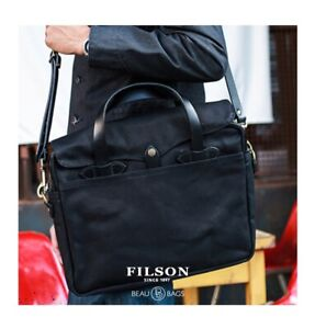 CC Filson - Rugged Twill Original Briefcase 70256 Black 11070256 $325 - NEW tags