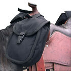 Small Classic Equine Small Horn Saddle Bag W/ Criss Cross Straps Black U-A-II