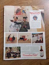 1946 Canadian Club Whiskey Ad  Juan Belmonte Spain's Great Bullfighter