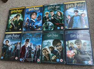 HARRY POTTER DVD BOX SET 1-8 - Region 2 UK DVD Set - Years 1 2 3 4 5 6 7 7B