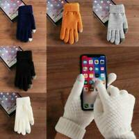 Women Men Soft Wool Winter Gloves Warmer Mobile Phone Touch Screen Sports Warm