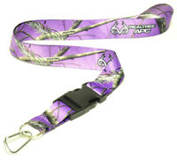 Lavander Camo Lanyard With Quick Release & Carabiner Keychain New Realtree