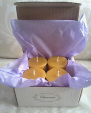 Handmade 100% Beeswax Candles - organic LAVENDER votives box