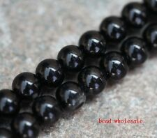 100pcs Black Smooth Round Glass Pearl Spacer Beads 4mm For Craft