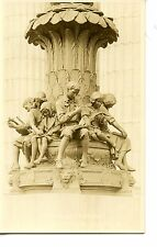Children at Study Statue-Books-Music-Albany-New York-RPPC-Real Photo Postcard