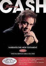 Johnny Cash - Narrates The NKJV® New Testament Bible On DVD (DVD, 2008)