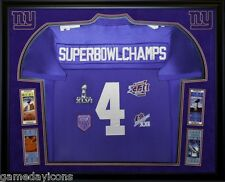 NEW YORK GIANTS Framed 4X SUPER BOWL CHAMPS Jersey Great for any Giants Fan!