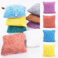 Soft Fur Fluffy Plush Pillow Case Sofa Waist Throw Cushion Cover Home Car Decor
