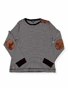 Lauren by Ralph Lauren Women's XL Long Sleeved Black/White Striped Shirt