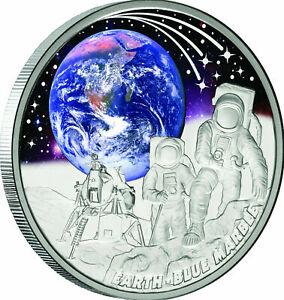 Niue 2022 1$ Earth BLUE MARBLE Apollo Mission 17 Moon Space 1oz Silver Coin