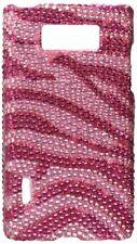 Brilliant Diamond Case for LG Splendor/Venice US730 Hot Pink Zebra