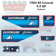 1982-85 Evinrude 9.9 HP Yachtwin Outboard Reproduction 9 Pc Marine Vinyl Decals