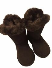 Toddler Girls Cherokee Dannie Winter Boots Faux Fur Lining Brown sz 7 NWT