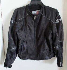 JOE ROCKET Light Weight Black Nylon and Mesh Motorcycle Jacket Men's Size Small