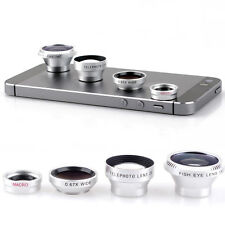 Magnetic 4in1 Fish Eye+Telephoto+Wide Angle+Micro Lens for iPhone 6S Plus 6S 5S