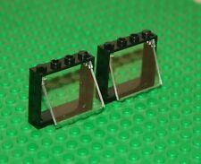 LEGO Nero Finestra 1 x 4 x 3 NO SCHEDE dell'otturatore con foro vetro 60594 60603 NUOVI