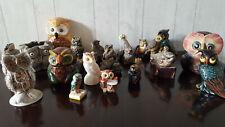 CHOUETTES & HIBOUX collection de 22 figurines