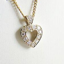 Anhänger Gold 585er Herz 0,13 Diamant Goldanhänger 14 kt. Edelstein Brillant