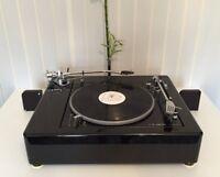 LENCO L75/78 Piano Black XL Twin Tonearm Plinth Zarge (without turntable!)