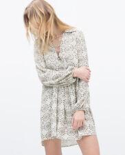 ZARA - Eyelet Gathered Printed Dress - Size M <> Was: £49.99 - Now: £29.99!!